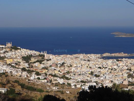 The capital of Syros, Hermoupolis from high above