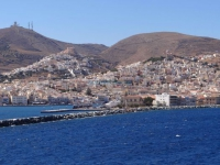 Hermoupolis and on the left up the hill Ano Syros