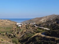 The small settlement of Halandriani in the north side of Syros