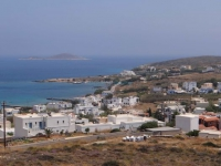 Azolimnos village in the southeast side of Syros