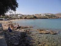 Fabrika beach in Vari, on the south side of Syros