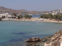 Angathopes beach in Posidonia, one of the most beautiful beaches in the island