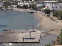 The Finikas beach with the concrete dock