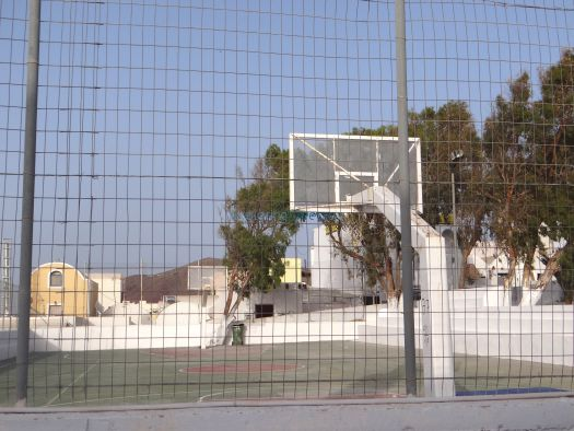 Basketball court at Oia