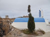 Cyclades - Santorini - Emporio - Small Church in Gavrilos Hill