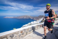View from the running race at Santorini